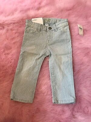 Baby Gap Stripe Girls Skinny Light Blue Denim Jeans Size 12-18 Months $35 NWT