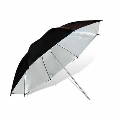 "40"" Black Silver Reflective Umbrella For Photography Light Studio Lighting Kit"