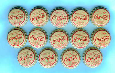 14-LOT COCA COLA SODA BOTTLE CAP from MIDDLESBORO. KENTUCKY > Unused Cork Lining
