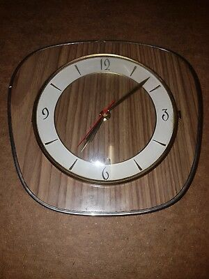 Junghans wall clock 1960s wood back