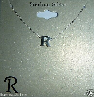 Argent Sterling Initiale 'R' Marque 45.7cm Ressort Fermoir 8mm X 8mm Fin Massif