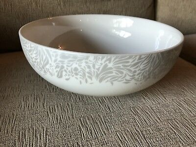 DENBY MONSOON LUCILLE Silver Serving Bowl, 1st Quality Large Fruit ...