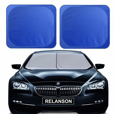 "RELANSON Car Windshield Sunshade,2 Pieces of Separate Foldable 35""x31"""