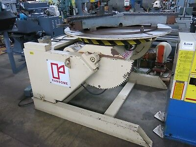 "Ransome 120-P Welding Positioner with Chuck 12k Capacity 60"" Faceplate"