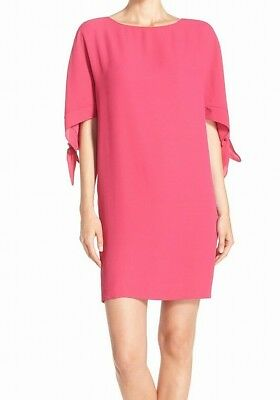 b1eb0387b8f Vince Camuto NEW Pink Womens Size 6 Cold-Shoulder Tie-Sleeve Shift Dress  88