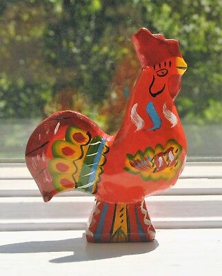 Antique Swedish Dala Rooster Grannas Olsson 1960s 4 3/4""