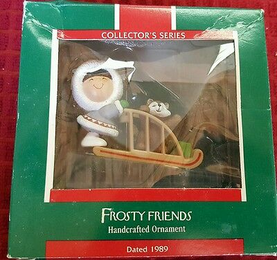 1989 Hallmark Ornament - Frosty Friends - 10th in Series