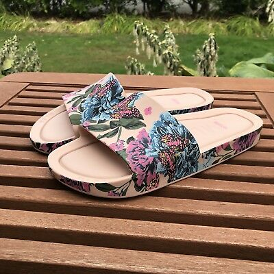 6f490ad2ef0 MELISSA Sz 6 Slides Sandals Flip Flops PVC Floral Butterfly Nordstrom BEACH  III.