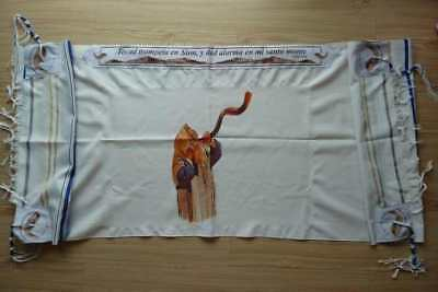 Span-Prayer Shawl-Shofar (72  x 23 )-Acrylic