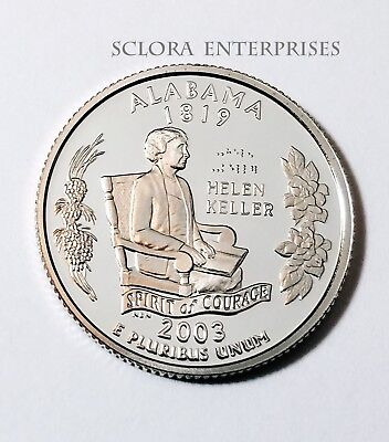 2003 S Alabama  *90% Silver Proof*  State Quarter   **free Shipping**