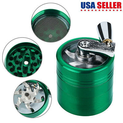 Hand Crank Crusher Tobacco Cutter Grinder Hand Muller Shredder Smoking Case US