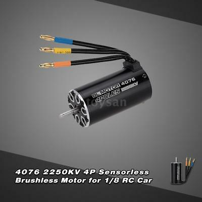 4076 2250KV 4P sensorlose Brushless Motor für 1/8 RC Monstertruck R1N0