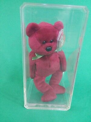 Ty Beanie Babies Teddy Cranberry Red Maroon Color With Tags 1st Gen Tush Tag 95af8da749b3