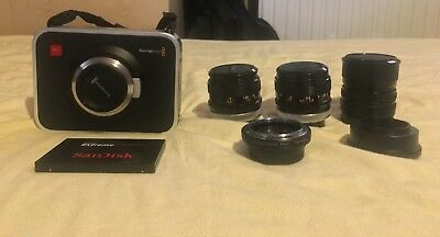 Black Magic Cinema Camera 2.5K MFT With 3 Lenses+Adaptors+240GB SSD
