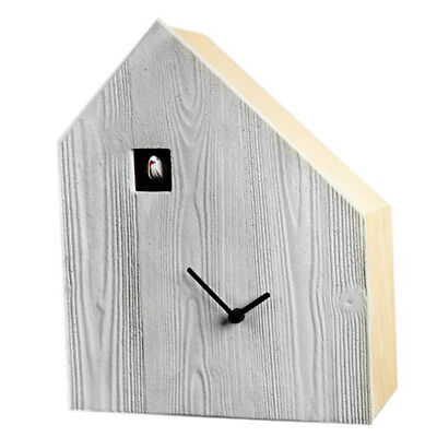 CEMENTO birch with concrete front side asymmetrical Cuckoo clock