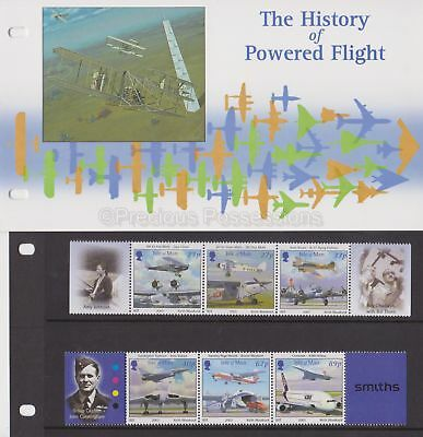 ISLE OF MAN Presentation Pack 2003 History of Powered Flight Stamp Set 10% off 5
