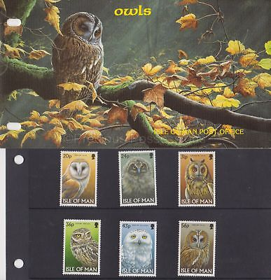 Isle of Man Presentation Pack 1997 Owls Stamp Set 10% off 5+