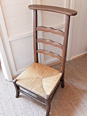 Antique French Prie Dieu, Kneeler, Prayer Stool, Religious / Bedroom Chair.
