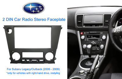 2 DIN Car Radio Stereo Faceplate for Subaru Legacy/Outback (2006 - 2009)