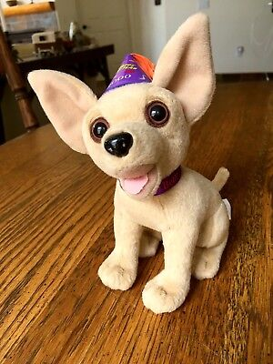 """Taco Bell Chihuahua * Works * Says """"Happy New Year, Amigos!"""" 2000"""