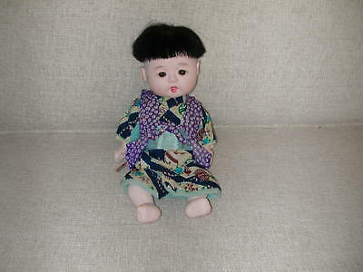 VINTAGE JAPANESE GOFUN ICHIMATSU BOY DOLL jointed with glass eyes 12""