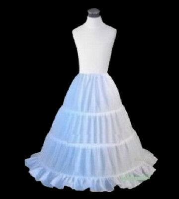 e287168949ae The little girl's 3 - HOOP wedding dress petticoat slip skirt4-8 to12 years  old