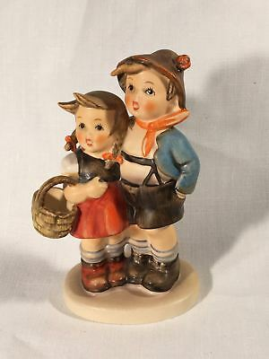 "Goebel Hummel TMK5 #94 3/0 ""Surprise"" (Boy / Girl with Basket) 4"" Tall"