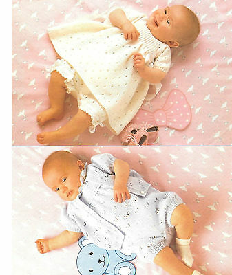 baby dress cardigan romper and pants 3 ply and 4 ply knitting pattern 5fecd26c7