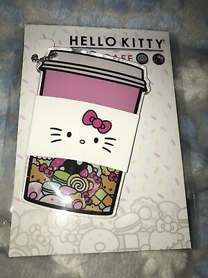 NEW Hello Kitty Cafe Exclusive Plastic Sanrio Keychain