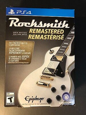 Rocksmith 2014 Edition Remastered Bundle Pack W/ Real Tone Cable (PS4) NEW