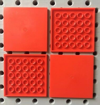LEGO Lot of 4 Reddish Brown 2x4 Smooth Finishing Tile Pieces