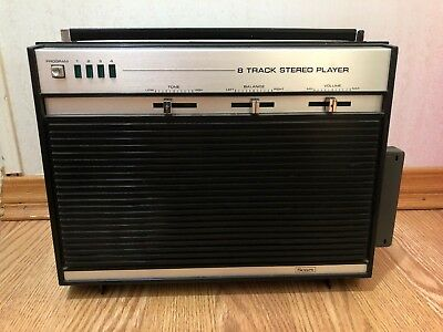 8 Track Portable Tape Player Stereo Solid State Stereo 8 Track Tape Player