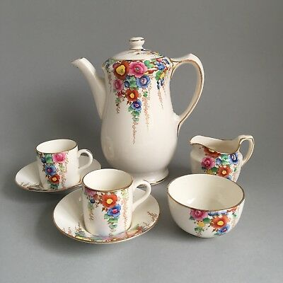 Losol Ware Keeling & Co Ltd Bude Part Coffee Set