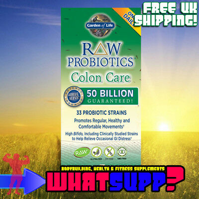GARDEN OF LIFE Raw Probiotics COLON CARE 50 bn/33 strains x30 vcap Arrive Alive!