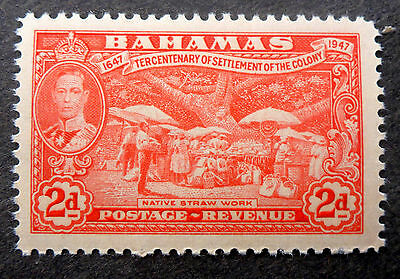 """Bahamas #135 Vf Mint Nh**(Native Straw Work) Engraved By """"canadian Banknote Co."""""""