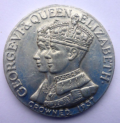"King George Vi & Queen Elizabeth Crowned 1937 ""long May They Reign"" Aluminum"