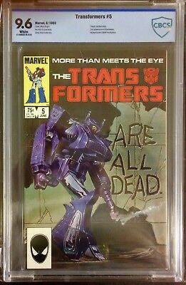 Transformers #5 CBCS (not CGC) 9.6 Marvel 1985 White Pages