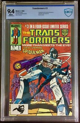Transformers #3 CBCS (not CGC) 9.4 Marvel 1985 White Pages