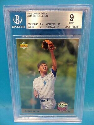 1993 Upper Deck #449 Derek Jeter Carta Rookie Rc Graded 9 Menta Béisbol Tarjetas