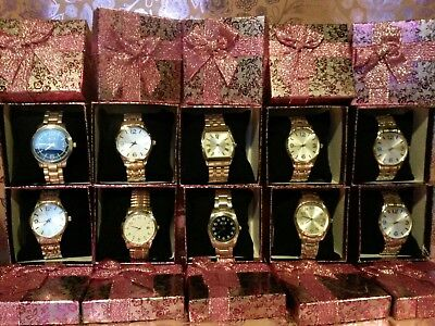 JOB LOT WHOLESALE 10 Mens Silver Bracelet Designer Style Look Watches Gift Boxes