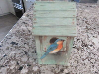 Marjolein Bastin Stationery Storage Box Bird Birdhouse Vintage Hallmark