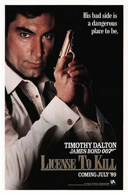License to Kill (1989) original movie poster advance - single-sided - rolled