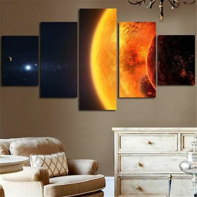 Milky Way Earth Planet Wall Decor Canvas Art On Canvas Print For Living Room