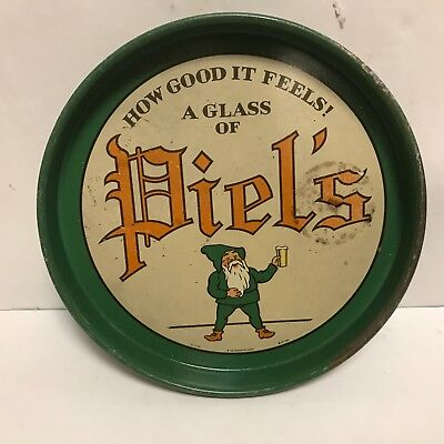 Piel's Real Lager Beer Elves Tray How Good It Feels A Glass Of Piels Rare