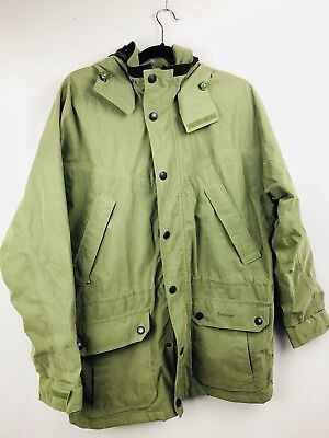 Barbour A265 Green Lightweight Fulbourn waterproof breathable Jacket, size M