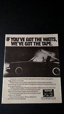 Maxell High Performance Tape Top Rated (1983) Rare Original Print Promo Poster A