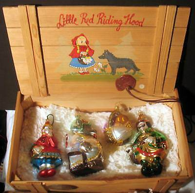Komozja Polonaise Kurt Adler Glass Christmas Ornament Set Little Red Riding Hood