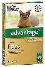 Advantage Kittens & Small Cats up to 4kg- 6 pack Exp.April 2019 price reduced***