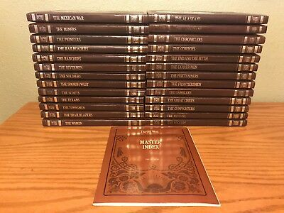 The Old West-Complete 26 Volume Set with Index by Time Life Books (Leatherette)