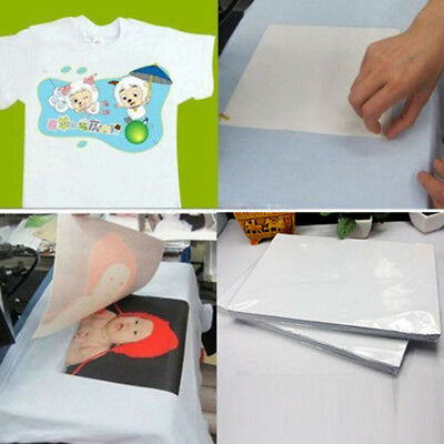 2Pcs T-Shirt A4 Transfer Paper Iron-on Heat Press Dark Light Fabric Inkjet Print